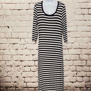 MICHAEL Kors Stripe Maxi Dress, Size S